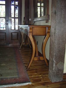 bend oregon wood entry table