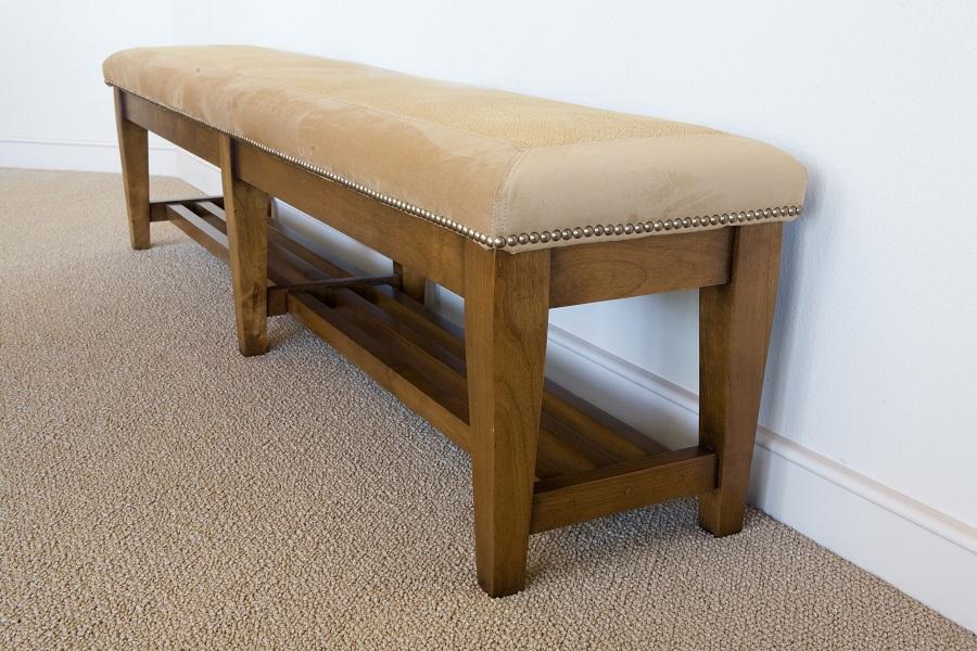 custom fine furniture wood bench in redmond oregon