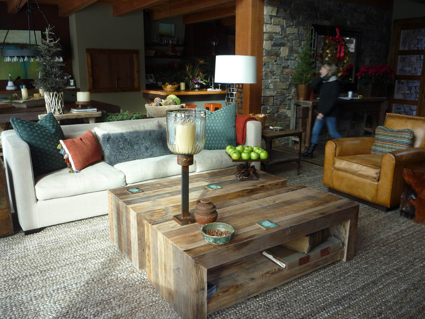 oregon hand crafted wood working living room furniture